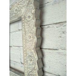 Ramka drewniana - biel - srebro