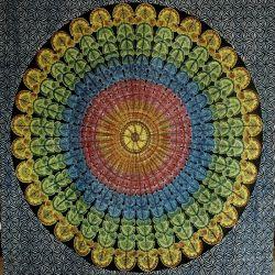 Obrus - makata - tęczowa mandala