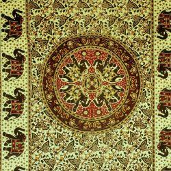Obrus - mandala z karawaną - z czerwienią