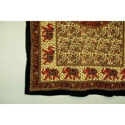 Obrus - mandala z karawaną - z czernią
