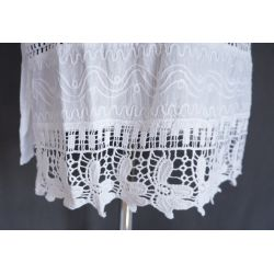 Tunika indyjska bawełniana - krótka - z ażurowym haftem