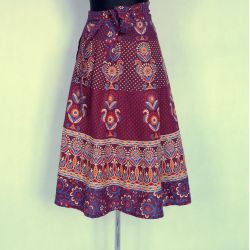 Spódnica indyjska  kopertowa - krótka - folk - renkloda