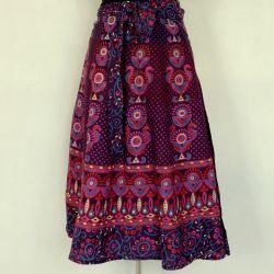 Spódnica indyjska - kopertowa - krótka - folk - fiolet