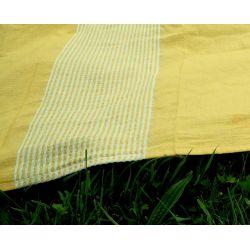 Narzuta XXL - kapa z frędzlami - żółta