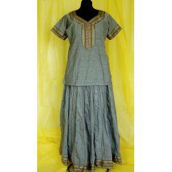 Gopi dress - szary melanż
