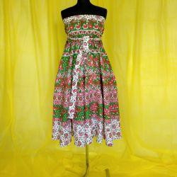 Spódnica indyjska  kopertowa - długa - z zielenią