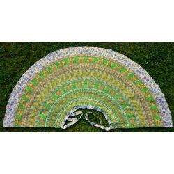 Spódnica indyjska  kopertowa - długa - z żółtym