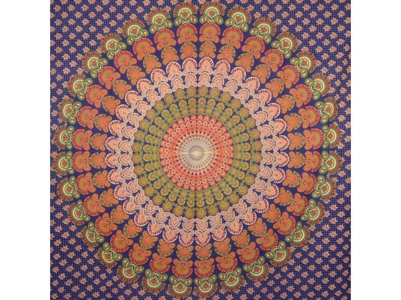 Narzuty bawełniane mandala